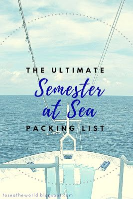 Everything I needed to prepare for Semester at Sea - annotated with post-voyage thoughts/tips!