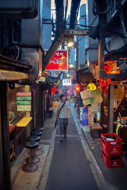 Wandering in the Yakitory Alley by pouchin, via Flickr