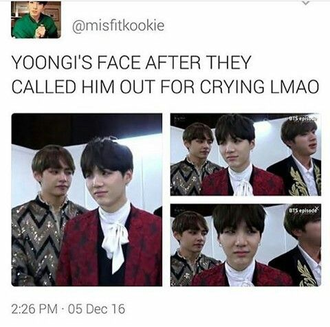 It's okay. The song is called blood sweat and TEARS
