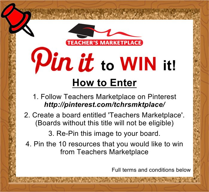 Looking for fantastic ideas for your classroom and could do with a prize? Checkout www.TeachersMarketplace.com.au and pin the 10 resources you'd like to win!