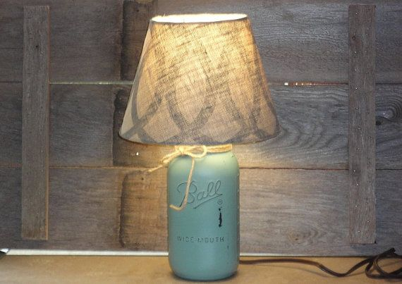 Mason Jar Lamp-Eucalyptus Mason Jar Lamp-Eucalyptus by Rustic4you on etsy $35