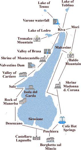 Lake of Garda map of the tours