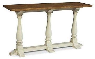 Panama Jack Coronado White Console Table - tropical - buffets and sideboards - Carolina Rustica