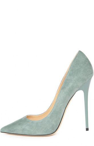 Женские зелёные замшевые туфли anouk на шпильке Jimmy Choo, сезон SS 2016, арт…