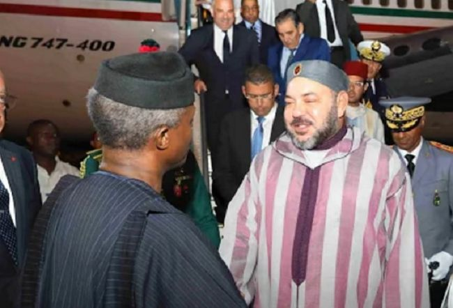 King Mohammed VI of Morocco visits Nigeria (See Photos)