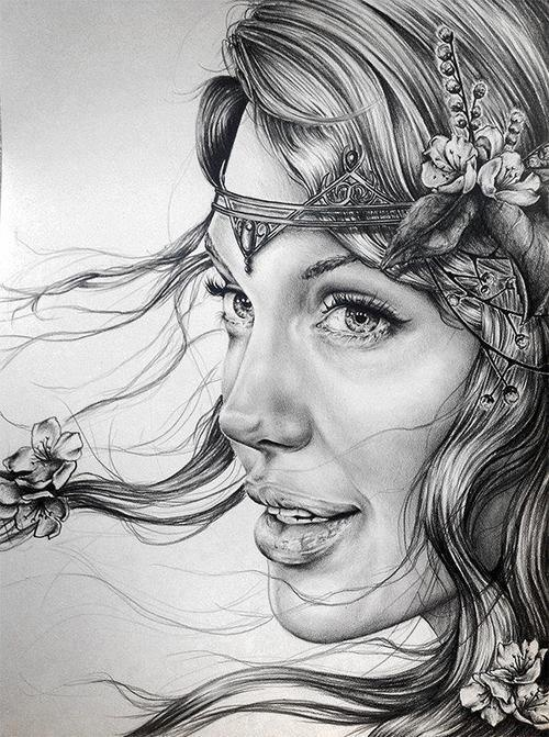 love this drewing of angilina jolie