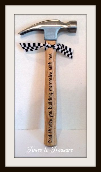 Personalized Hammer Fathers Day Gift Gift for by timestotreasure...