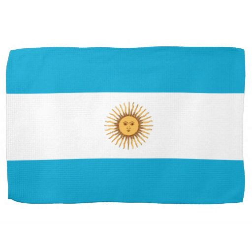 Argentina flag kitchen towel
