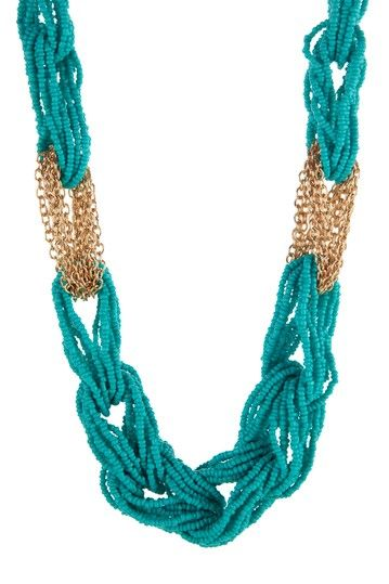 t+j Designs Beaded Loop Chain Link Necklace by t+j Designs on @HauteLook