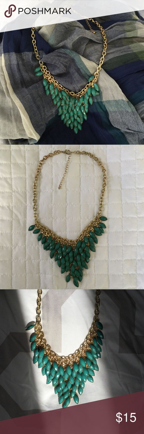 Green statement necklace Classy statement necklace Jewelry Necklaces