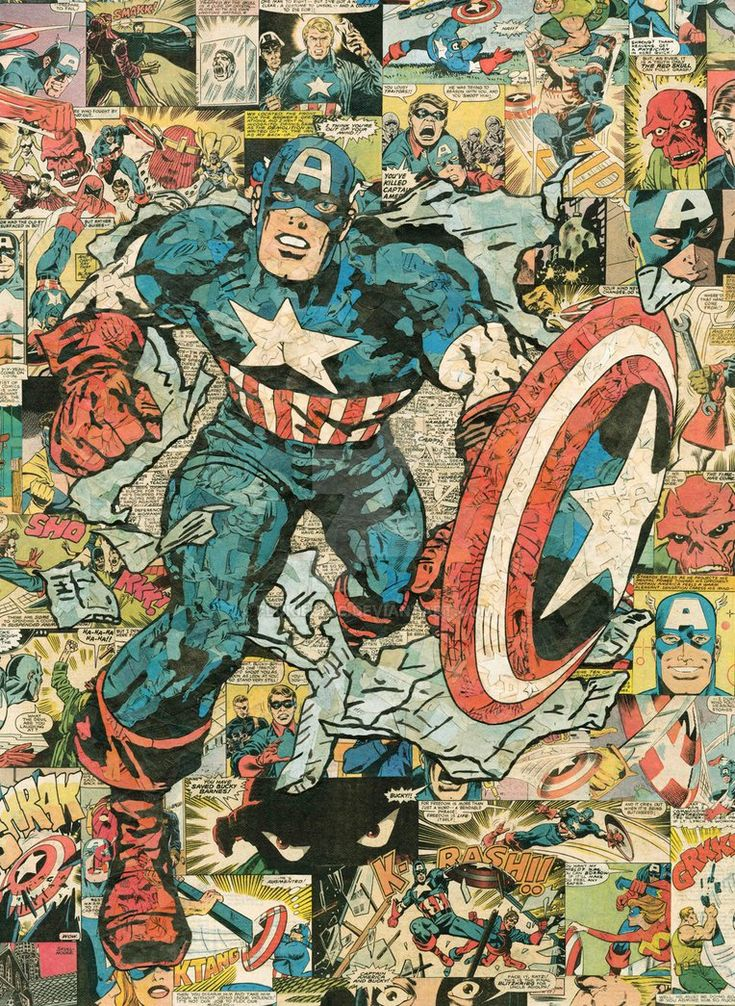 Captain America Comic Collage by flukiechic on DeviantArt