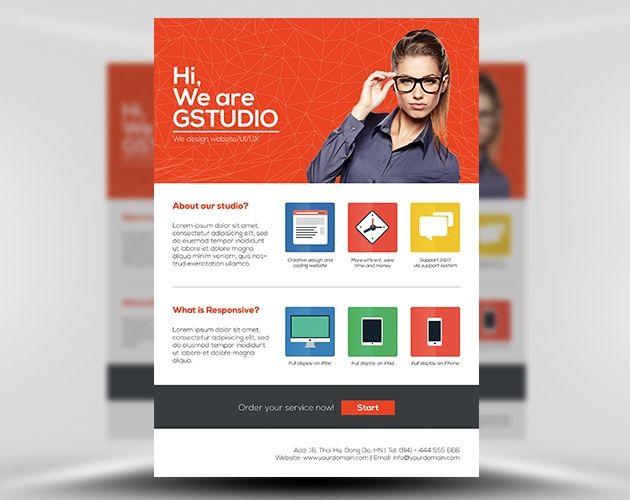 11 best web design flyer images on Pinterest Design web, Design - web flyer