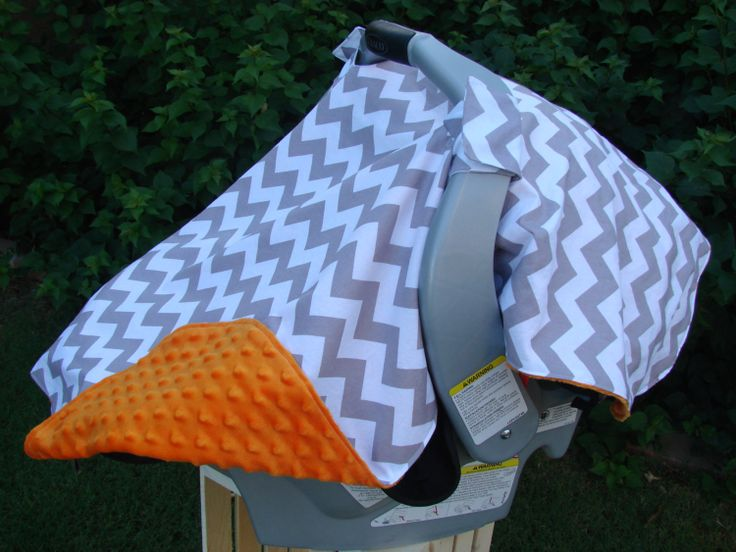 Baby Car Seat Cover Grey White Chevron by KadydidDesigns on Etsy, $42.50