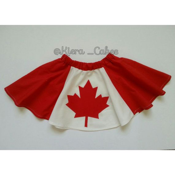 Canada Day Circle Skirt by KieraCakes on Etsy