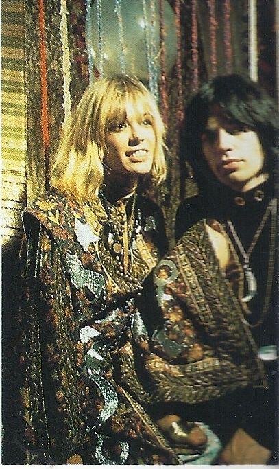Mick Jagger and Anita Pallenberg in 'Performance' - filmed 1968.