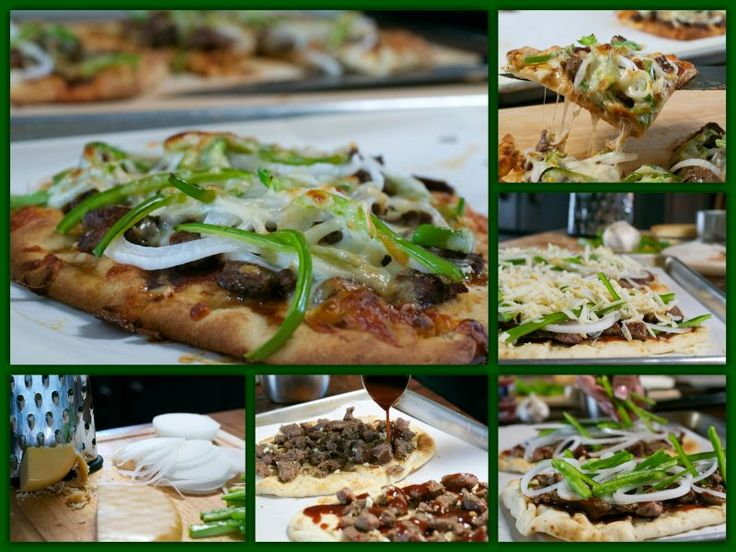 Philly Cheesesteak Flatbread Ahhh.............the Philly Cheesesteak.......it's iconic. I know there are many versions out there. I recently saw a picture of a Philly Cheesesteak Sandwich and it looked sooooo yummy. But it's a lot of bread, so...