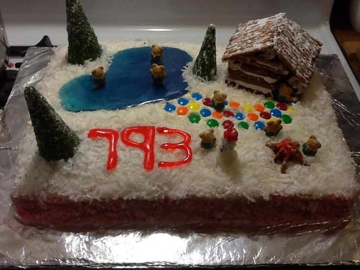 Images Of Cake For Son : Cub Scout Cake, Theme Winter Wonderland. 1st place in ...
