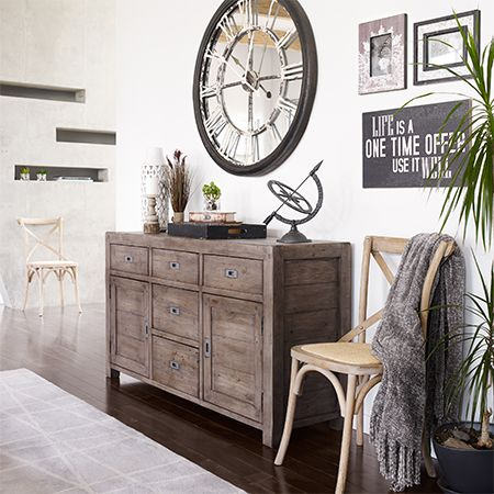 Love the clock! Modern & Contemporary Furniture Store, Home Decor & Accessories | Urban Barn - Urban Barn