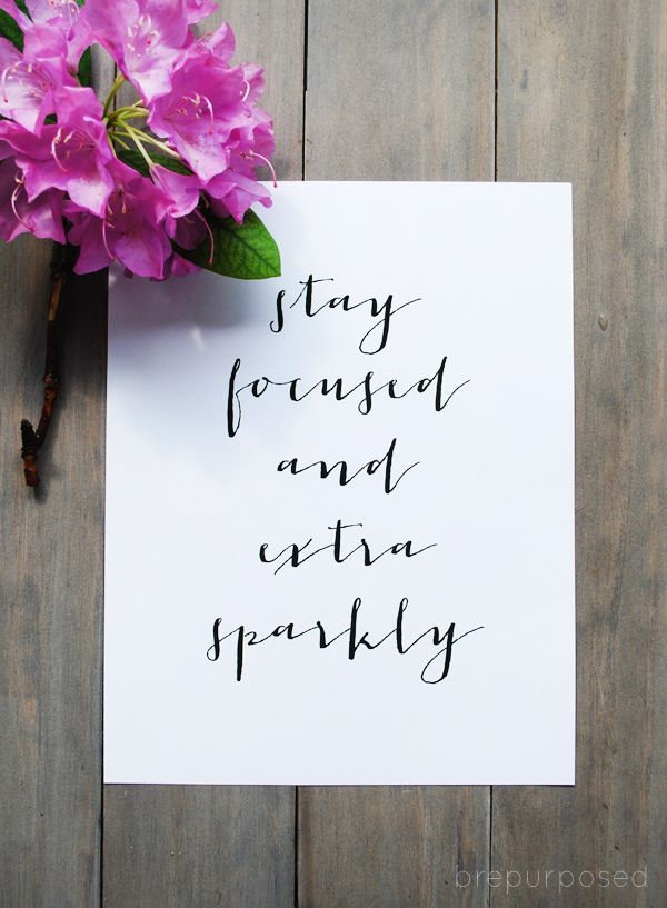 Stay Focused and Extra Sparkly - Friday's Fab Freebie :: Week 54 - brepurposed