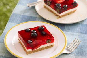 Glazed Berry Squares recipe, as featured in the latest food & family magazine