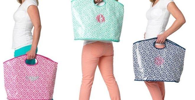 Personalized Extra Large Tote Bags $19.99 SELLER PROFILE  MRS Enterprises  www.soontobemrs.net