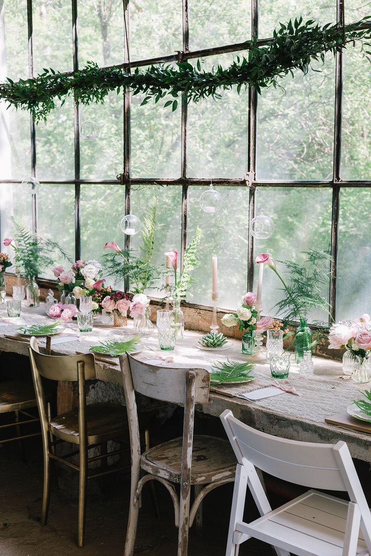 Un matrimonio botanico e romantico in serra