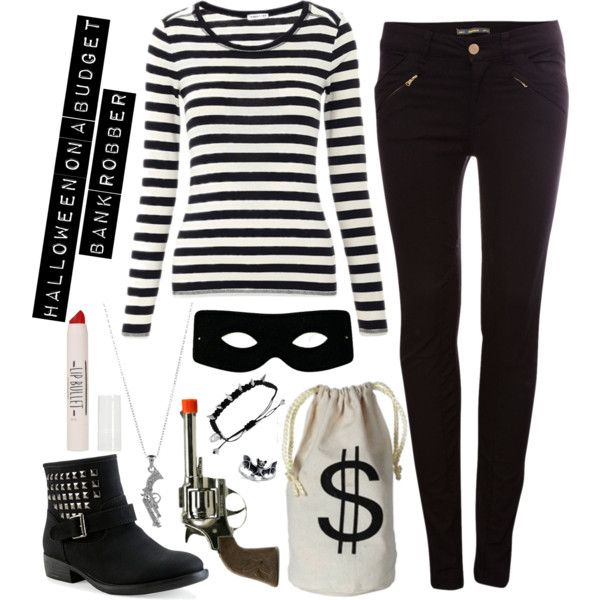 """Halloween Costume: Bank Robber"" by stylesdice on Polyvore"