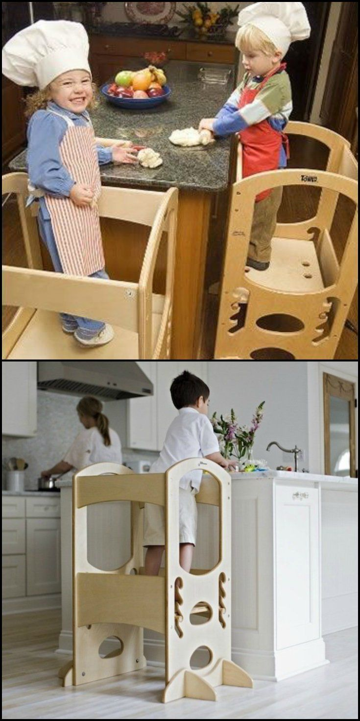 """""""Let me do it!"""" We sure do hear that a lot from our kids.  http://theownerbuildernetwork.co/reviews/furniture_reviews/learning-tower/  As they grow, that fierce independence gets stronger and stronger.  With this well designed step stool they finally can do it, and with the solid wood construction, they can do it safely."""