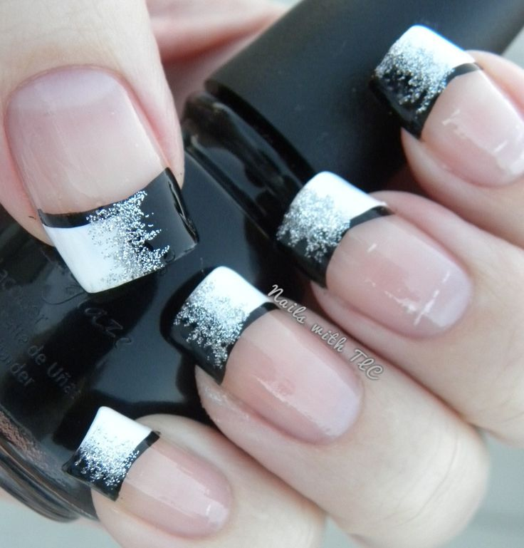 White to Black Glitter Gradient