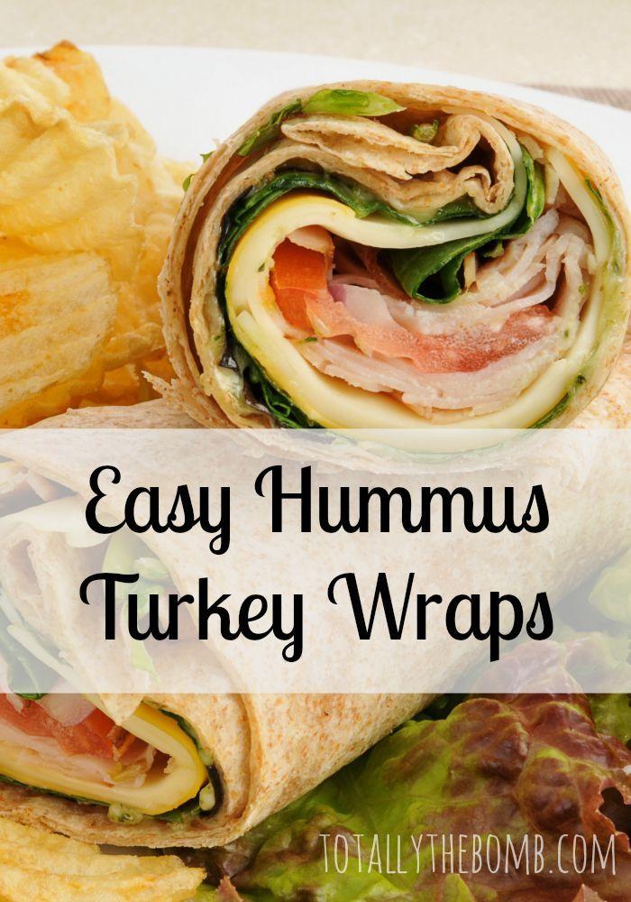 Easy Hummus Turkey Wraps