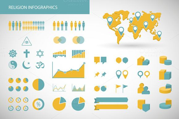 Religion Related Infographics Set by Blablo on Creative Market