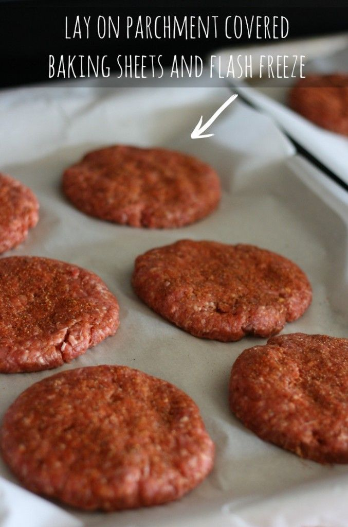 Amazing hamburger patties you can premake and freeze