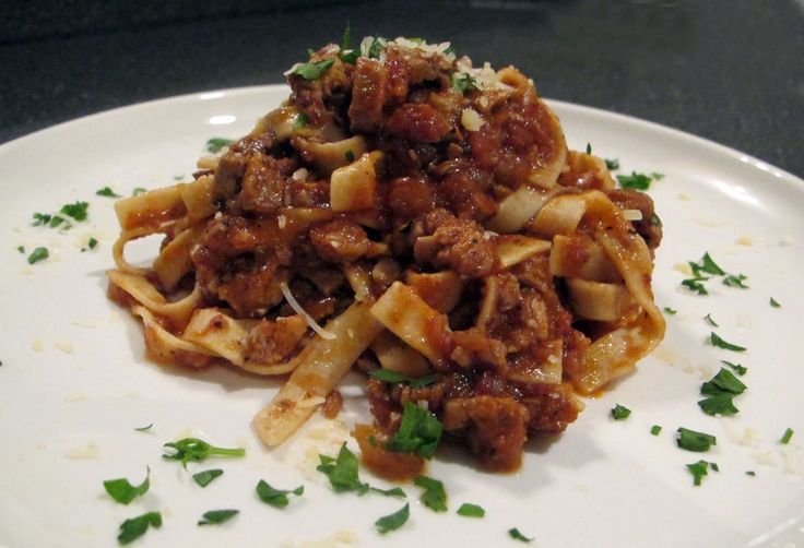 Duck Ragu with home made fettucine - simpler than it sounds and worth ...