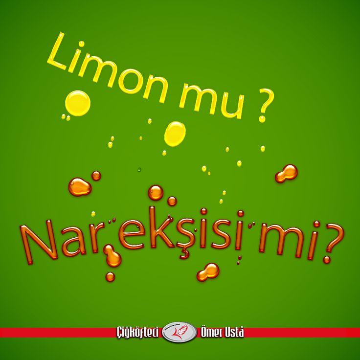 #çiğköfteciömerusta #çiğköfte #limon #narekşisi