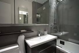 white and black grey bathroom - Google Search