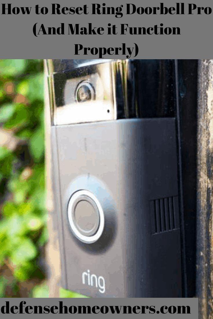 Learn how to reset ring doorbell pro Ring doorbell