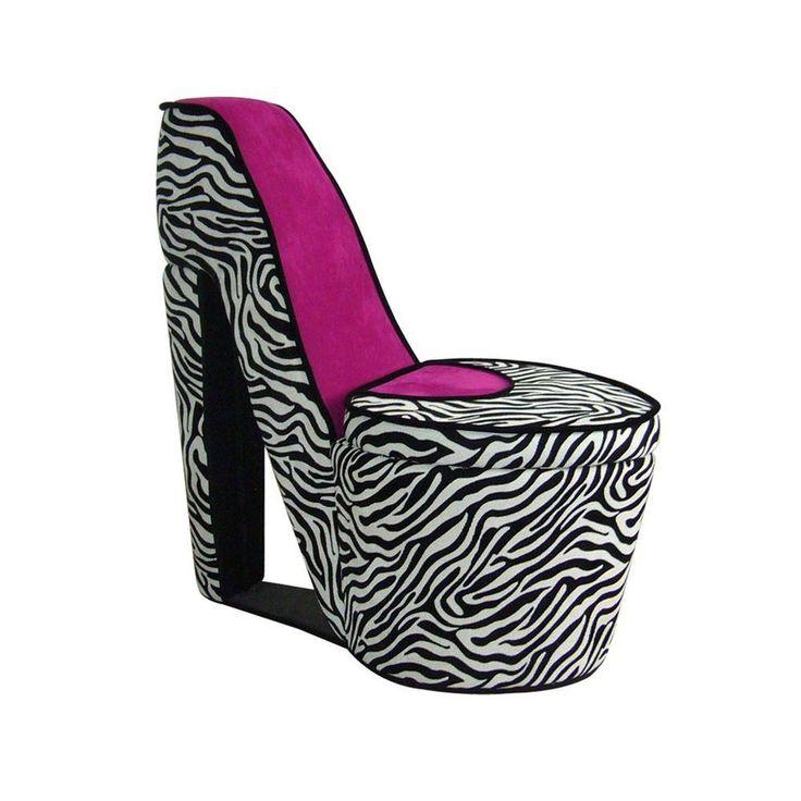 Zebra Stripe High Heel Chair