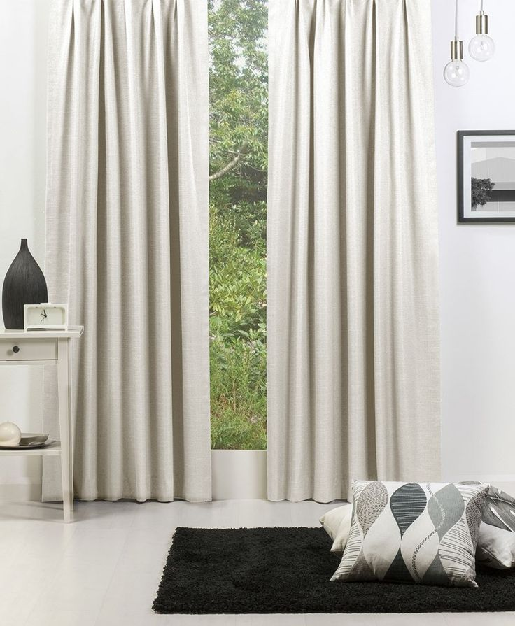 Broome (Blockout) Pencil Pleat Curtain - Stone #Curtains