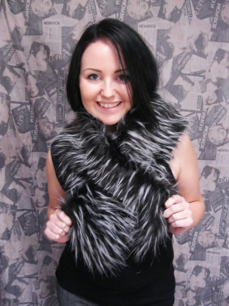The pull through scarves i make , only R 110.00 ... Made from artificial fur and other fabrics....