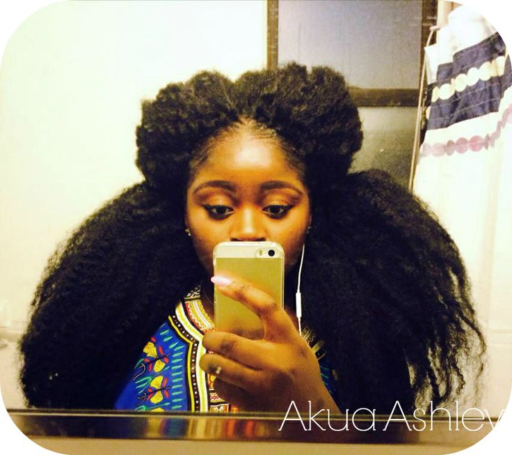 Crochet Braids on Natural Hair Using 6-7 packs of Marley Hair Kinky ...