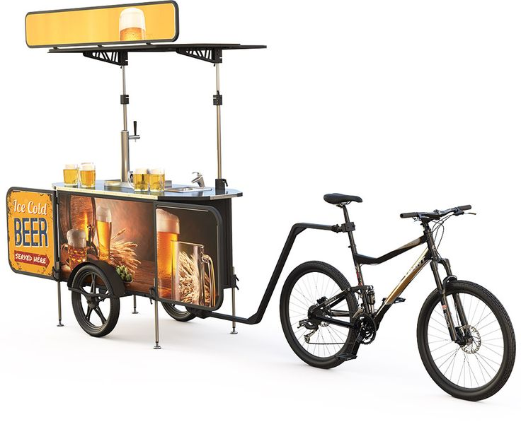 Beer cart for offering cold beers and earn revenues. Beer bike stand will allow you to server beers in any pedestrian area and maximize your revenues.