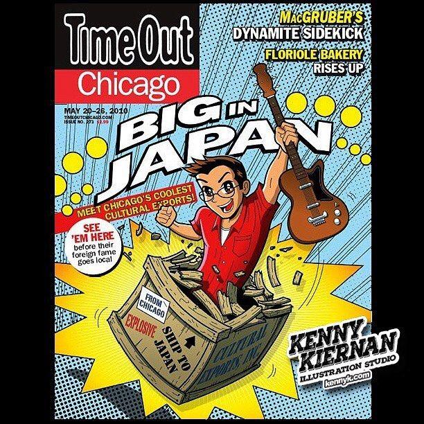 Time Out Chicago Magazine Cover #editorialillustration #anime #manga #japan  #vectorart #vectorillustration #illustration #digitalart #comic