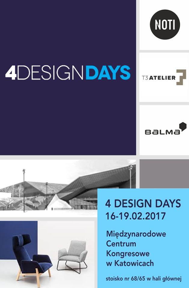 To już za dwa dni. Zapraszamy. #balma #noti #design #4DD #Katowice