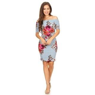 Women's Floral Pattern Bodycon Dress
