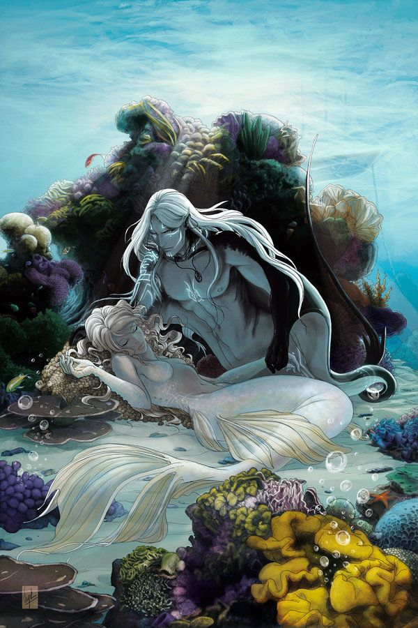 Watching over her sleep by *Vyrhelle-VyrL on deviantART As a Marine Scientist I want to criticize the tail, as a lover of art I believe this to be gorgeous.