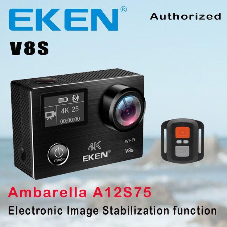 Action Camera Deportiva EKEN V8S Ultra HD 4K Ambarella A12 WiFi Electronic Image Stabilization Go Waterproof Pro Sport DV Camera //Price: $128.71//     #shop