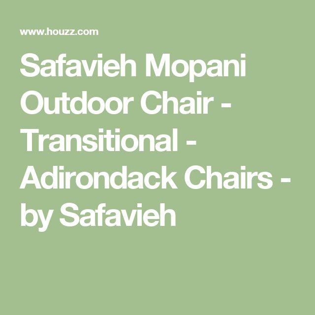 Safavieh Mopani Outdoor Chair - Transitional - Adirondack Chairs - by Safavieh