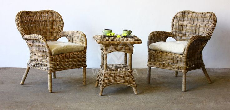 Afra Set is a coffe set with 2 Afra Chair 68(w) x 78(d) x 90(h) and 1 Afra Table with glass 60(w) x 60(d) x 65(h). Woven with Rattan Kubu Grey in natural color.  http://www.cirebonrattan.com/rattan-furniture-products/detail/264-Afra-Coffe-Set  #Furniture #Coffe #Chair #Table #Glass #Rattan #Kubu #Grey #Natural #Indoor #Cirebon #Indonesia #Wisanka
