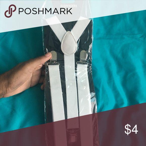 White Suspenders Unopened from Amazon; White suspenders Accessories Suspenders