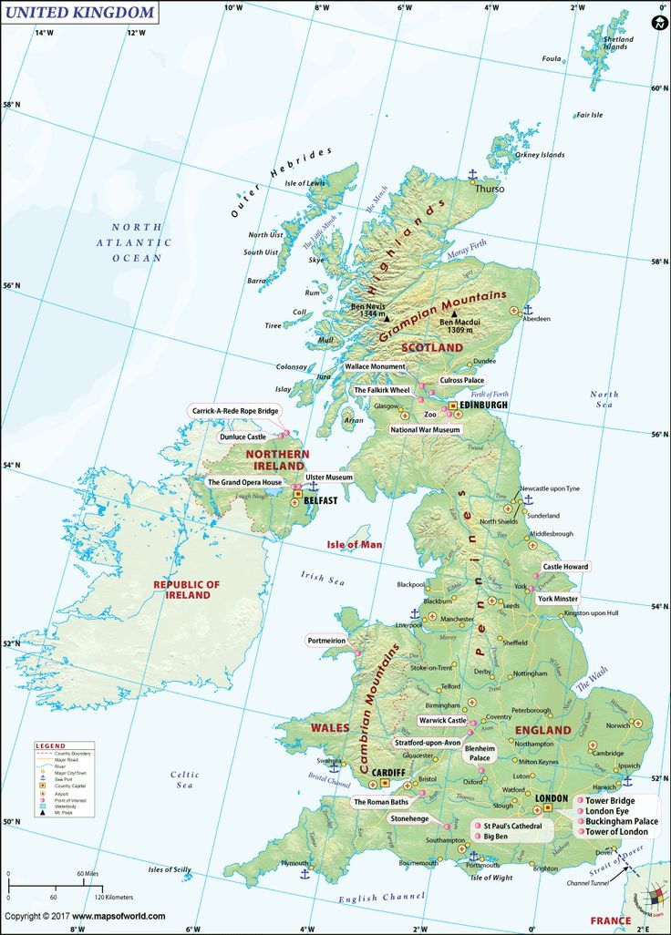 Download and print UK Map for free use. Map of United